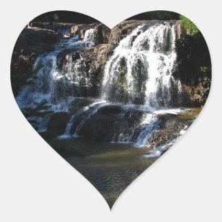 Majestic Waterfall at Gooseberry Falls – Nature Heart Sticker
