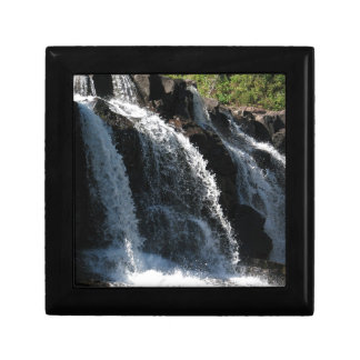 Majestic Waterfall - Gooseberry Falls by the Trees Small Square Gift Box