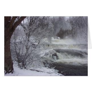 Majestic Waterfall Spiritual Christmas Card