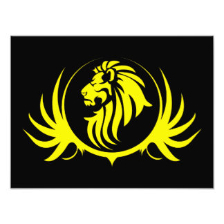 Majestic Yellow Lion Head Photo Print