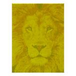 Majestic Yellow Lion Poster