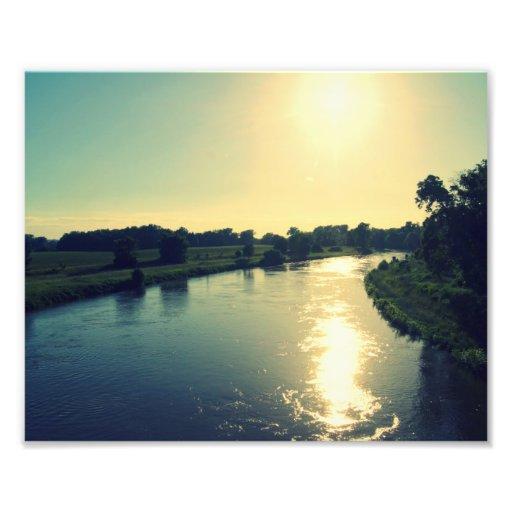 Majestical river Elbe Photographic Print