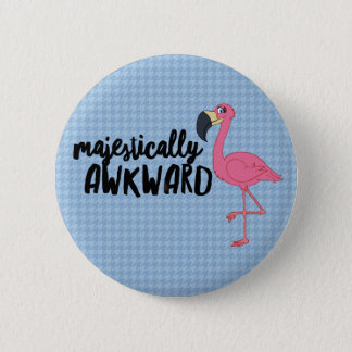 Majestically Awkward Flamingo 2¼ Inch Round Button