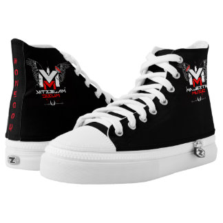 Majestik Muzic Zip High Tops Printed Shoes