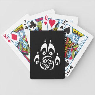 Majik Deck - Blackwolf Majik Pawprint Logo Bicycle Card Decks