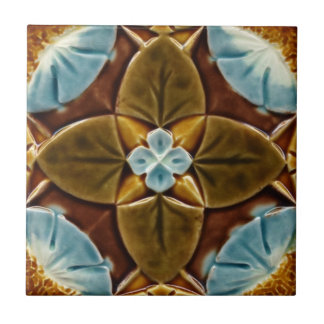 Majolica Gothic Tile c1893 Mintons Vintage Design