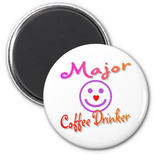 Major Coffee Drinker Refrigerator Magnets