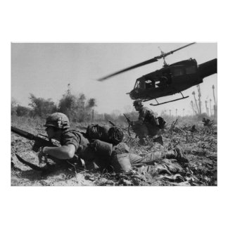 Major Crandall's UH-1D Helicopter in Vietnam War Print