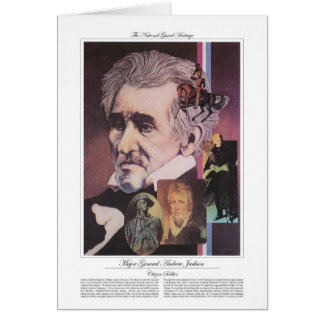 Major General Andrew Jackson Citizen Soldier Greeting Card