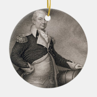 Major General Henry Knox (1750-1806) engraved by J Christmas Ornament