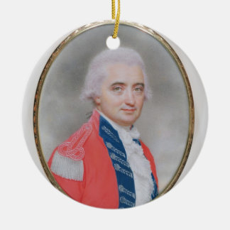 Major General Sir Barry Close (d.1813) 1794 (w/c a Round Ceramic Decoration
