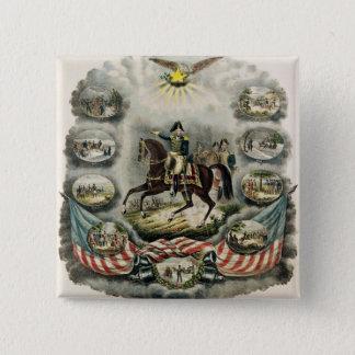 Major General William Henry Harrison, c.1813 15 Cm Square Badge