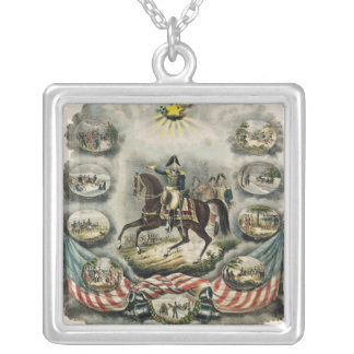 Major General William Henry Harrison, c.1813 Silver Plated Necklace