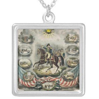 Major General William Henry Harrison, c.1813 Square Pendant Necklace