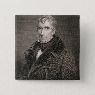 Major General William Henry Harrison, engraved by 15 Cm Square Badge