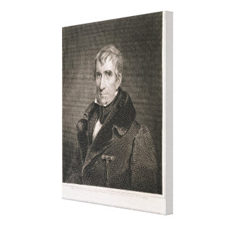 Major General William Henry Harrison, engraved by Canvas Print