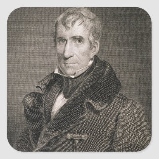 Major General William Henry Harrison, engraved by Square Sticker