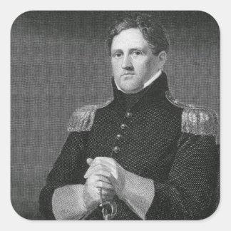 Major General Winfield Scott (1786-1866) engraved Square Sticker