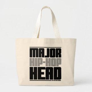 Major Hip Hop Head Grey Jumbo Tote Bag