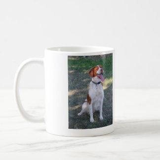 Major is a BRITTANY AKC Champion. Classic White Coffee Mug