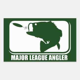 Major League Angler Rectangular Stickers