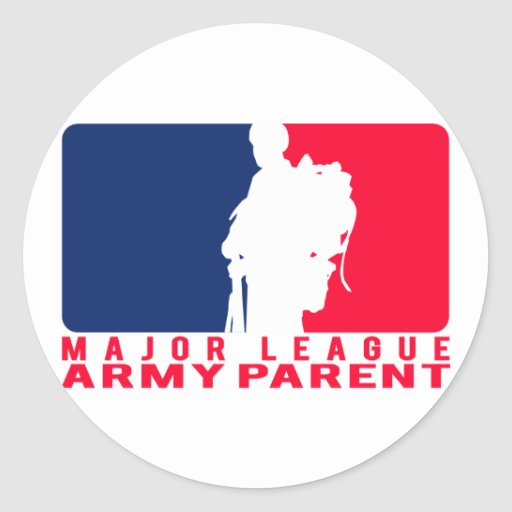 Major League Army Parent Round Stickers