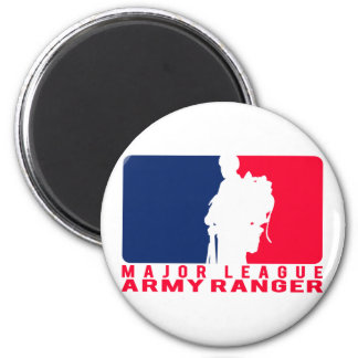 Major League Army Ranger 6 Cm Round Magnet