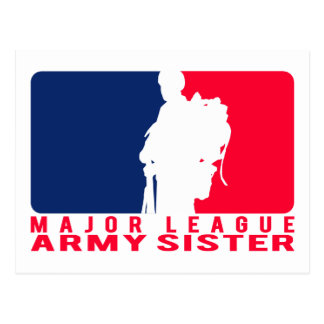 Major League Army Sister Postcards