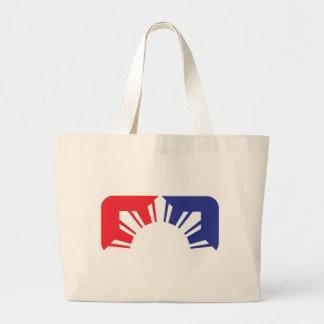 Major League Filipino Flag - Half Canvas Bags