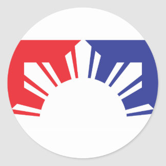 Major League Filipino Flag - Half Classic Round Sticker