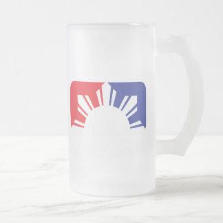 Major League Filipino Flag - Half Frosted Glass Mug