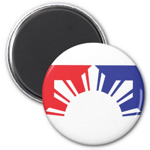 Major League Filipino Flag - Half Refrigerator Magnets