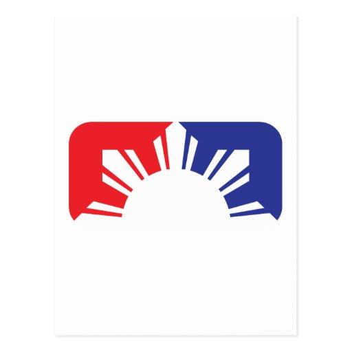 Major League Filipino Flag - Half Post Card