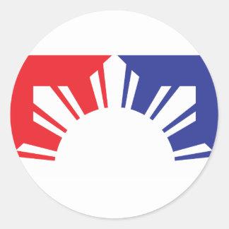 Major League Filipino Flag - Half Round Sticker