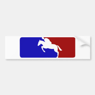 Major League Horse Racing Bumper Stickers