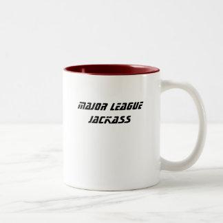 MAJOR LEAGUE JACKASS Two-Tone COFFEE MUG