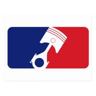 Major League Motor Postcard