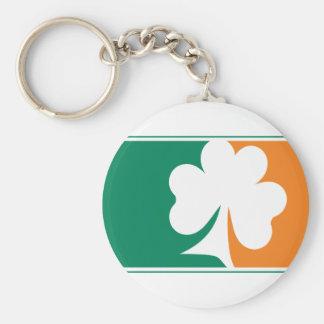 Major League Shamrock - Irish Colors Basic Round Button Key Ring