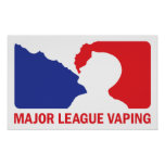 Major League Vaping Logo Vaper Custom Poster Print