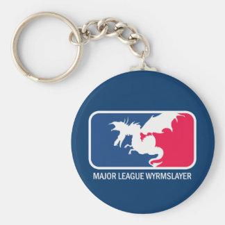 Major League Wyrmslayer Basic Round Button Key Ring