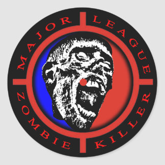 Major League Zombie Killer Round Sticker