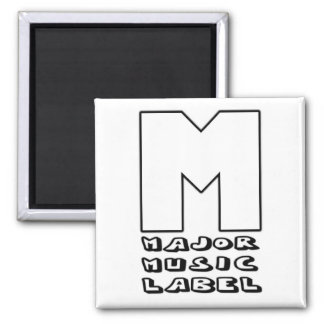 Major Music Label Square Magnet
