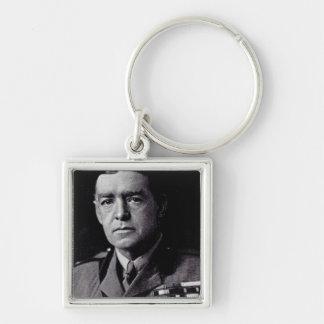 Major Sir Ernest Shackleton Silver-Colored Square Key Ring