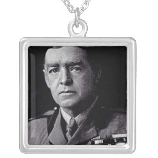 Major Sir Ernest Shackleton Silver Plated Necklace