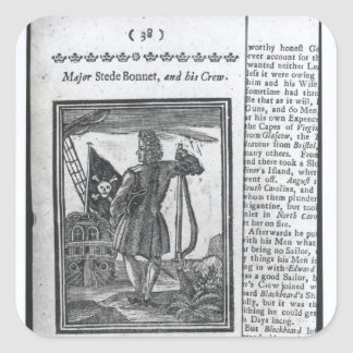 Major Stepe Bonnet, from 'Histories and Lives Square Sticker