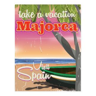 Majorca, Spain vintage beach vacation Poster Postcard