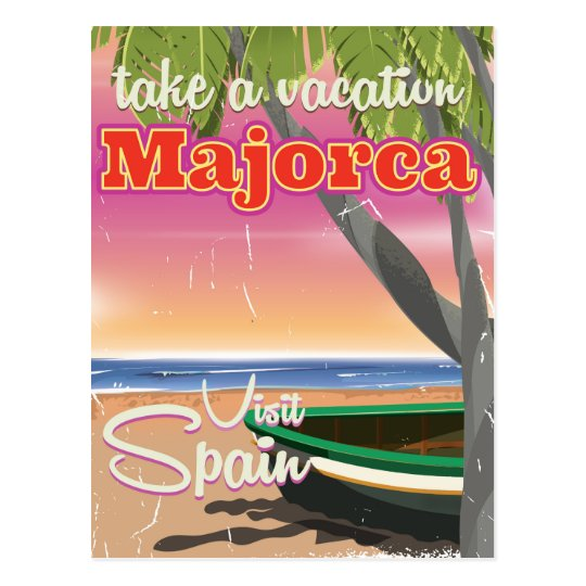 Majorca, Spain vintage beach vacation Poster Postcard