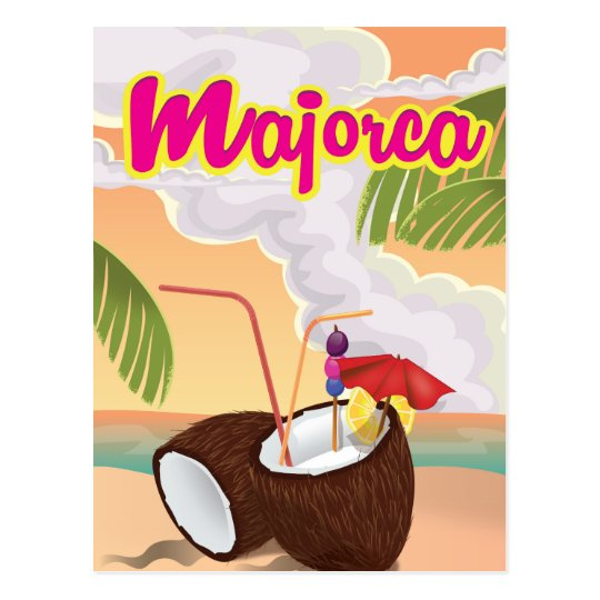 majorca vintage travel poster. postcard