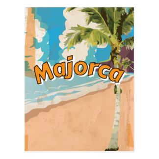 Majorca Vintage vacation Poster Postcard