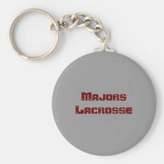 Majors Lacrosse Basic Round Button Key Ring